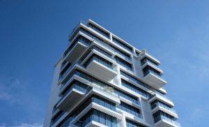 Immobilienfinanzierung - Sujetbild von Hochhaus