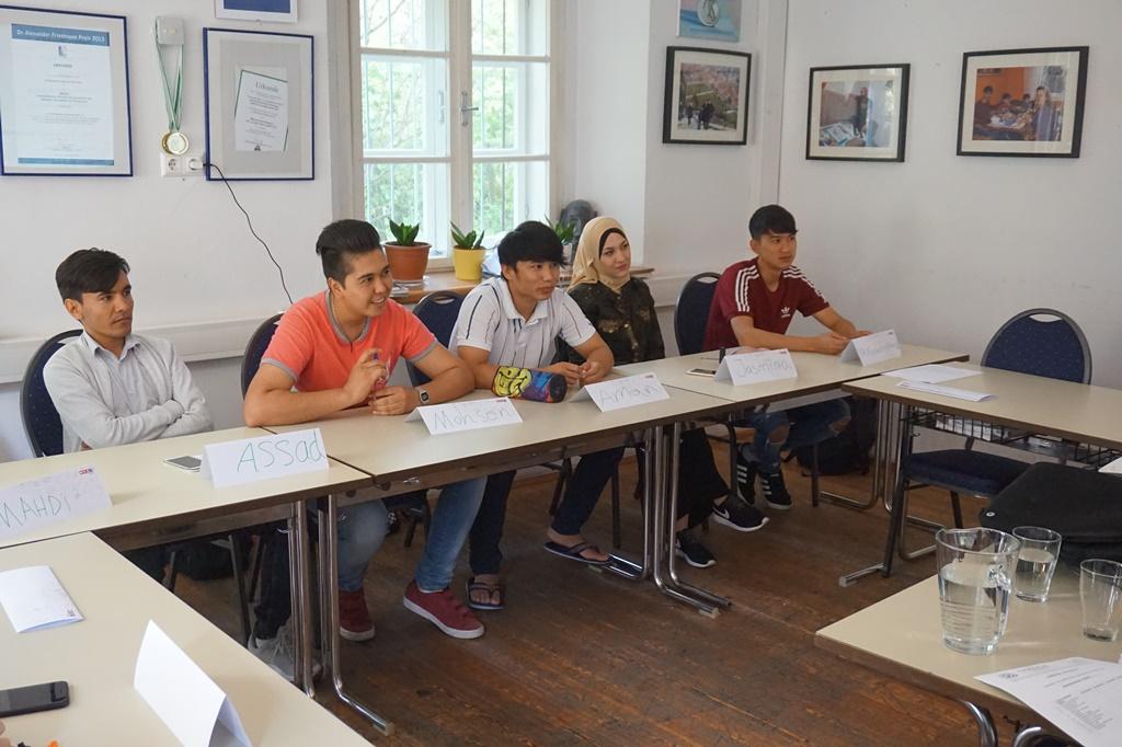 Teilnehmer des Finanzbildungsworkshops