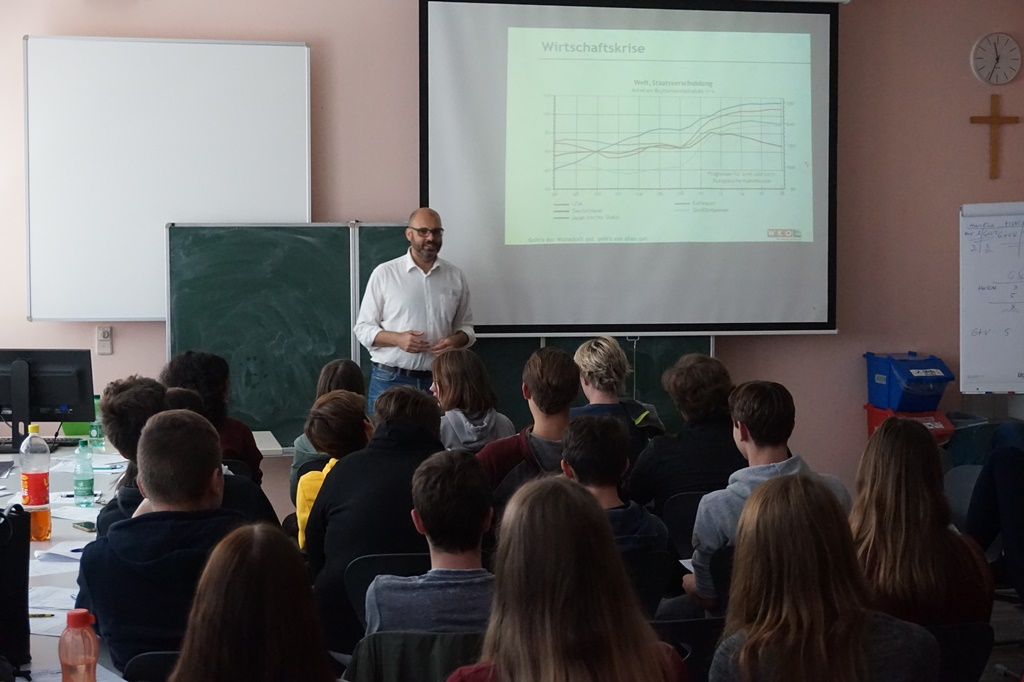 Vortrag vor einer Klasse